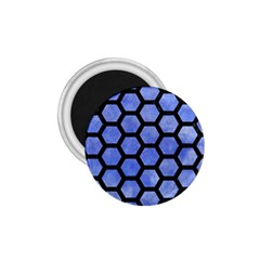 Hexagon2 Black Marble & Blue Watercolor (r) 1 75  Magnet by trendistuff