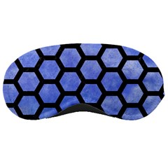 Hexagon2 Black Marble & Blue Watercolor (r) Sleeping Mask by trendistuff