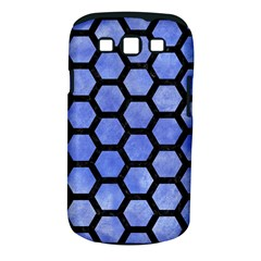Hexagon2 Black Marble & Blue Watercolor (r) Samsung Galaxy S Iii Classic Hardshell Case (pc+silicone) by trendistuff