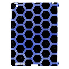 Hexagon2 Black Marble & Blue Watercolor Apple Ipad 3/4 Hardshell Case (compatible With Smart Cover) by trendistuff