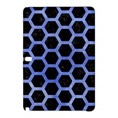 Hexagon2 Black Marble & Blue Watercolor Samsung Galaxy Tab Pro 10 1 Hardshell Case