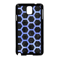 Hexagon2 Black Marble & Blue Watercolor Samsung Galaxy Note 3 Neo Hardshell Case (black) by trendistuff
