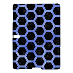 Hexagon2 Black Marble & Blue Watercolor Samsung Galaxy Tab S (10 5 ) Hardshell Case  by trendistuff