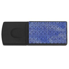 Hexagon1 Black Marble & Blue Watercolor (r) Usb Flash Drive Rectangular (4 Gb) by trendistuff