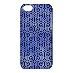 Hexagon1 Black Marble & Blue Watercolor (r) Apple Iphone 5c Hardshell Case by trendistuff