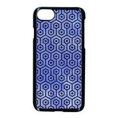Hexagon1 Black Marble & Blue Watercolor (r) Apple Iphone 7 Seamless Case (black) by trendistuff