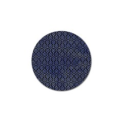 Hexagon1 Black Marble & Blue Watercolor Golf Ball Marker (10 Pack) by trendistuff