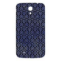 Hexagon1 Black Marble & Blue Watercolor Samsung Galaxy Mega I9200 Hardshell Back Case by trendistuff