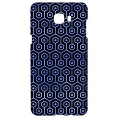 Hexagon1 Black Marble & Blue Watercolor Samsung C9 Pro Hardshell Case  by trendistuff