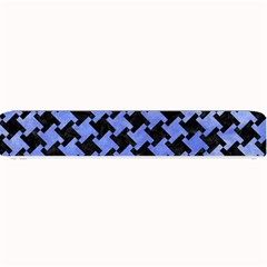 Houndstooth2 Black Marble & Blue Watercolor Small Bar Mat by trendistuff
