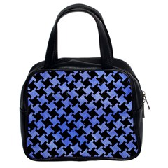 Houndstooth2 Black Marble & Blue Watercolor Classic Handbag (two Sides) by trendistuff