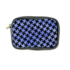 Houndstooth2 Black Marble & Blue Watercolor Coin Purse by trendistuff