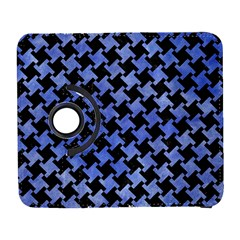 Houndstooth2 Black Marble & Blue Watercolor Samsung Galaxy S  Iii Flip 360 Case by trendistuff