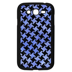 Houndstooth2 Black Marble & Blue Watercolor Samsung Galaxy Grand Duos I9082 Case (black) by trendistuff