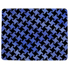 Houndstooth2 Black Marble & Blue Watercolor Jigsaw Puzzle Photo Stand (rectangular) by trendistuff