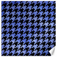 Houndstooth1 Black Marble & Blue Watercolor Canvas 12  X 12  by trendistuff