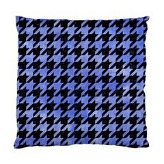 Houndstooth1 Black Marble & Blue Watercolor Standard Cushion Case (two Sides) by trendistuff