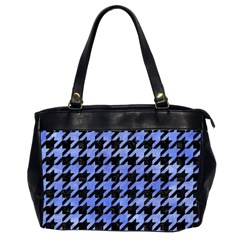 Houndstooth1 Black Marble & Blue Watercolor Oversize Office Handbag (2 Sides) by trendistuff