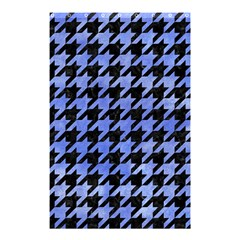 Houndstooth1 Black Marble & Blue Watercolor Shower Curtain 48  X 72  (small) by trendistuff