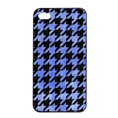Houndstooth1 Black Marble & Blue Watercolor Apple Iphone 4/4s Seamless Case (black) by trendistuff