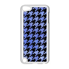 Houndstooth1 Black Marble & Blue Watercolor Apple Ipod Touch 5 Case (white) by trendistuff