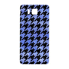 Houndstooth1 Black Marble & Blue Watercolor Samsung Galaxy Alpha Hardshell Back Case by trendistuff