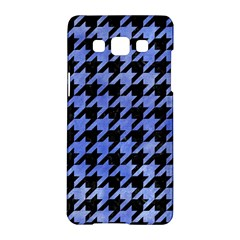 Houndstooth1 Black Marble & Blue Watercolor Samsung Galaxy A5 Hardshell Case  by trendistuff