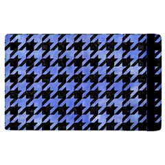 Houndstooth1 Black Marble & Blue Watercolor Apple Ipad Pro 9 7   Flip Case by trendistuff