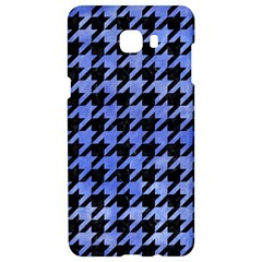 Houndstooth1 Black Marble & Blue Watercolor Samsung C9 Pro Hardshell Case  by trendistuff