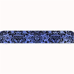 Damask2 Black Marble & Blue Watercolor (r) Small Bar Mat by trendistuff