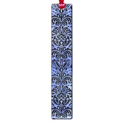 Damask2 Black Marble & Blue Watercolor (r) Large Book Mark by trendistuff
