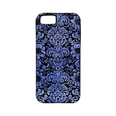 Damask2 Black Marble & Blue Watercolor Apple Iphone 5 Classic Hardshell Case (pc+silicone) by trendistuff
