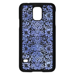 Damask2 Black Marble & Blue Watercolor Samsung Galaxy S5 Case (black) by trendistuff