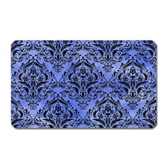 Damask1 Black Marble & Blue Watercolor (r) Magnet (rectangular) by trendistuff