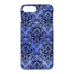 Damask1 Black Marble & Blue Watercolor (r) Apple Iphone 7 Plus Hardshell Case by trendistuff