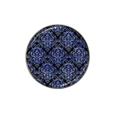 Damask1 Black Marble & Blue Watercolor Hat Clip Ball Marker (4 Pack) by trendistuff