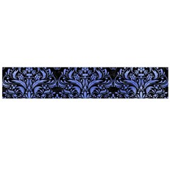 Damask1 Black Marble & Blue Watercolor Flano Scarf (large) by trendistuff