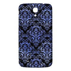 Damask1 Black Marble & Blue Watercolor Samsung Galaxy Mega I9200 Hardshell Back Case by trendistuff