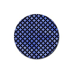 Circles3 Black Marble & Blue Watercolor (r) Rubber Round Coaster (4 Pack) by trendistuff