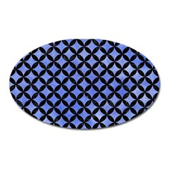 Circles3 Black Marble & Blue Watercolor (r) Magnet (oval) by trendistuff