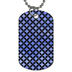 Circles3 Black Marble & Blue Watercolor (r) Dog Tag (two Sides) by trendistuff