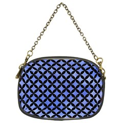 Circles3 Black Marble & Blue Watercolor (r) Chain Purse (one Side) by trendistuff