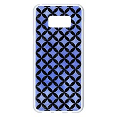 Circles3 Black Marble & Blue Watercolor (r) Samsung Galaxy S8 Plus White Seamless Case by trendistuff