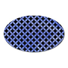 Circles3 Black Marble & Blue Watercolor Magnet (oval) by trendistuff