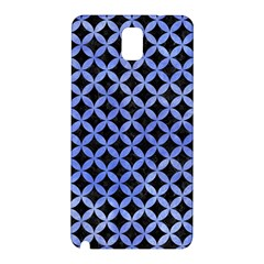 Circles3 Black Marble & Blue Watercolor Samsung Galaxy Note 3 N9005 Hardshell Back Case by trendistuff