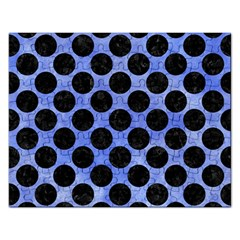 Circles2 Black Marble & Blue Watercolor (r) Jigsaw Puzzle (rectangular) by trendistuff