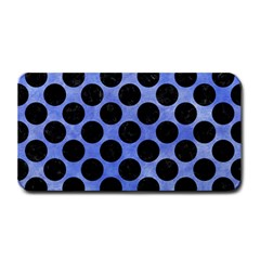 Circles2 Black Marble & Blue Watercolor (r) Medium Bar Mat by trendistuff