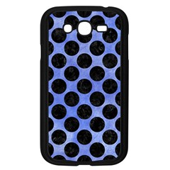 Circles2 Black Marble & Blue Watercolor (r) Samsung Galaxy Grand Duos I9082 Case (black) by trendistuff