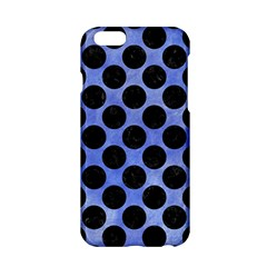 Circles2 Black Marble & Blue Watercolor (r) Apple Iphone 6/6s Hardshell Case by trendistuff