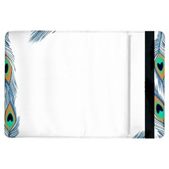 Beautiful Frame Made Up Of Blue Peacock Feathers Ipad Air Flip